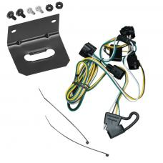 Trailer Wiring and Bracket For 95-03 Dakota 95-02 Dodge Ram 1500 2500 3500 4000 4-Flat Harness Plug Play