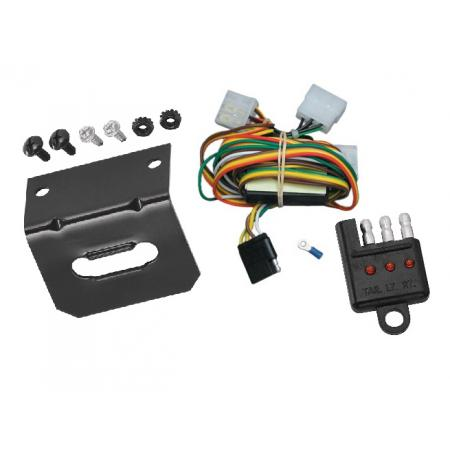 Trailer Wiring and Bracket and Light Tester For 94-97 Honda Passport 92-97 Isuzu Rodeo All Styles 4-Flat Harness Plug Play