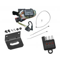 Trailer Wiring and Bracket and Light Tester For 96-00 Chrysler Town Country Dodge Caravan Grand Plymouth Voyager 98-03 Durango 4-Flat Harness Plug Play