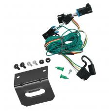 Trailer Wiring and Bracket and Light Tester For 96-99 Chevy Express GMC Savana 1500 2500 3500 4-Flat Harness Plug Play
