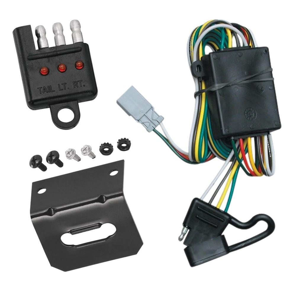 Trailer Wiring and Bracket and Light Tester For 97-03 Acura CL 94-01  Integra 01-06 MDX 96-01 RL 96-03 TL 94-02 Honda Accord 95-04 Odyssey 03-08  Pilot 4-Flat Harness Plug PlayTrailerJacks.com