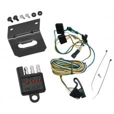 Trailer Wiring and Bracket and Light Tester For 87-95 Chevy G10 G20 G30 GMC G1500 G2500 G3500 Van 4-Flat Harness Plug Play