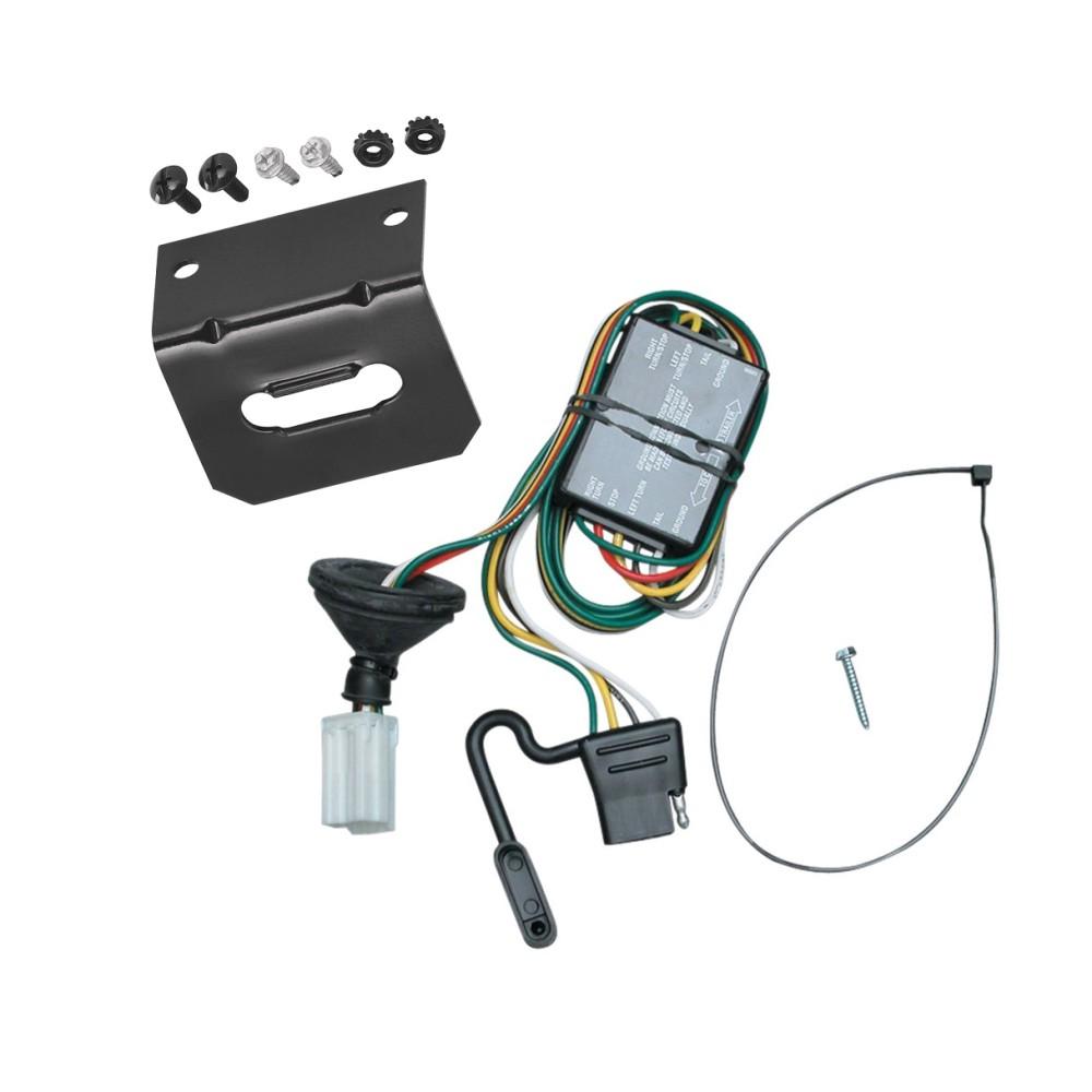 trailer wiring and bracket for 96-99 acura slx 92-02 isuzu ... acura mdx trailer wiring harness