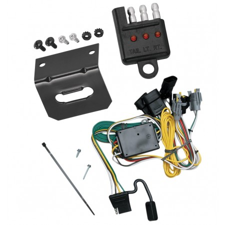 Trailer Wiring and Bracket and Light Tester For 92-94 Ford E-150 250 350 Econoline 01-03 Escape Tribute 4-Flat Harness Plug Play
