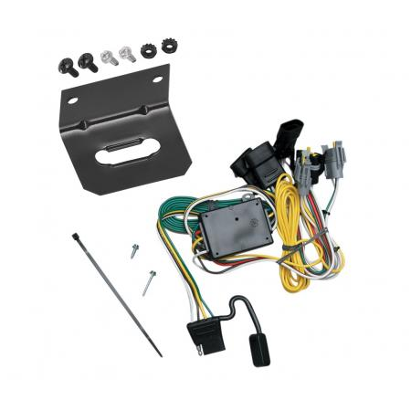 Trailer Wiring and Bracket For 92-94 Ford E-150 250 350 Econoline 01-03 Escape Tribute 4-Flat Harness Plug Play