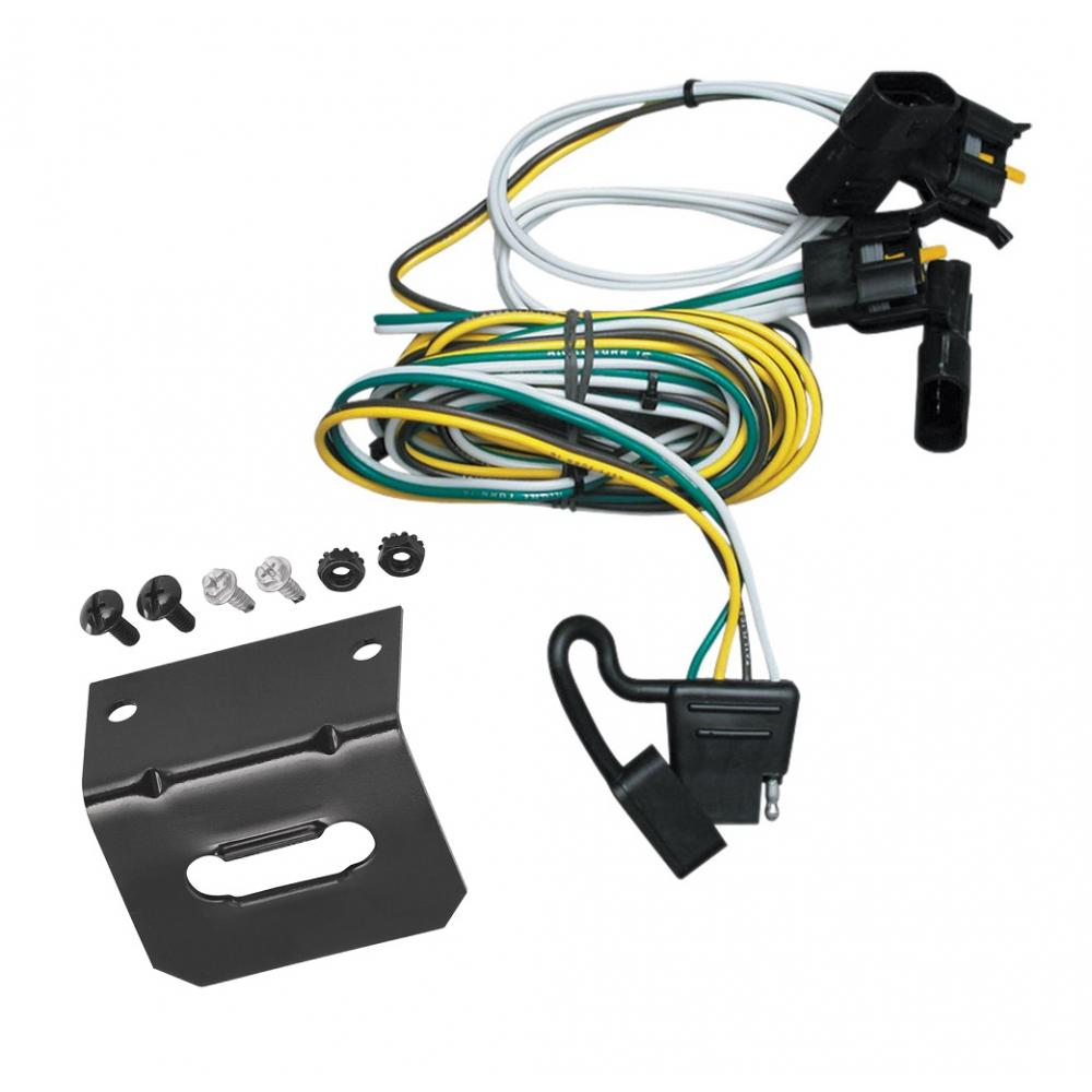 Trailer Wiring and Bracket For 00-03 Ford Ranger 95-02 Van 97-03 F-150  Expedition 01-03 Explorer Lincoln Navigator 4-Flat Harness Plug PlayTrailerJacks.com