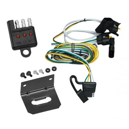 Trailer Wiring and Bracket and Light Tester For 00-03 Ford Ranger 95-02 Van 97-03 F-150 Expedition 01-03 Explorer Lincoln Navigator 4-Flat Harness Plug Play