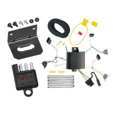 Trailer Wiring and Bracket and Light Tester For 01-03 Ford Escape Mazda Tribute 92-94 Econoline Van 95-01 Explorer 97-01 Mountaineer 4-Flat Harness Plug Play