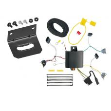 Trailer Wiring and Bracket For 01-03 Ford Escape Mazda Tribute 92-94 Econoline Van 95-01 Explorer 97-01 Mountaineer 4-Flat Harness Plug Play