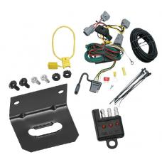Trailer Wiring and Bracket and Light Tester For 94-98 Jeep Grand Cherokee ZJ All Styles 4-Flat Harness Plug Play