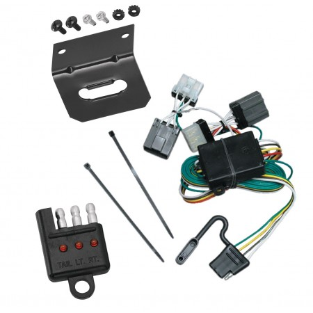 Trailer Wiring and Bracket and Light Tester For 87-95 Nissan Pathfinder 86-97 Nissan D21 Pickup 4-Flat Harness Plug Play