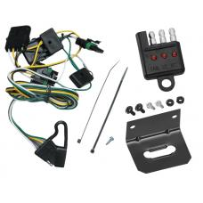 Trailer Wiring and Bracket and Light Tester For 91-97 Jeep Wrangler --(1997 TJ Canada Only)-- 4-Flat Harness Plug Play