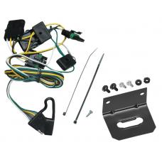 Trailer Wiring and Bracket For 91-97 Jeep Wrangler --(1997 TJ Canada Only)-- 4-Flat Harness Plug Play