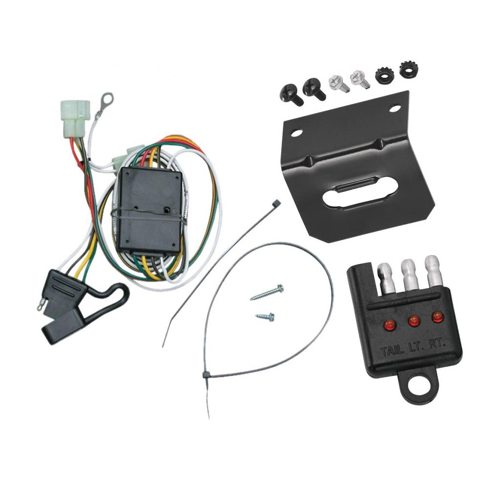 [ANLQ_8698]  Trailer Wiring and Bracket and Light Tester For 96-97 Lexus LX450 Toyota  Land Cruiser All Styles 4-Flat Harness Plug Play | Lexus Trailer Wiring Harness |  | TrailerJacks.com