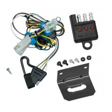 Trailer Wiring and Bracket and Light Tester For 98-04 Chevy S-10 GMC Sonoma 98-00 Isuzu Hombre 4-Flat Harness Plug Play