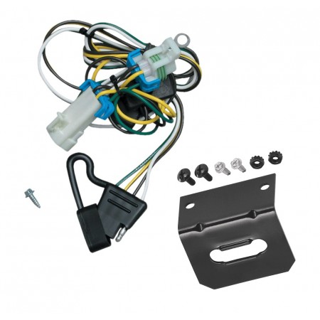 Trailer Wiring and Bracket For 98-04 Chevy S-10 GMC Sonoma 98-00 Isuzu Hombre 4-Flat Harness Plug Play