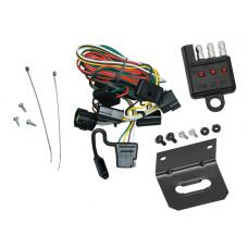 Trailer Wiring and Bracket and Light Tester For 98-02 Honda Passport 98-00 Isuzu Amigo 98-04 Rodeo 01-03 Rodeo Sport 4-Flat Harness Plug Play