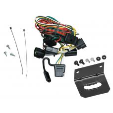 Trailer Wiring and Bracket For 98-02 Honda Passport 98-00 Isuzu Amigo 98-04 Rodeo 01-03 Rodeo Sport 4-Flat Harness Plug Play