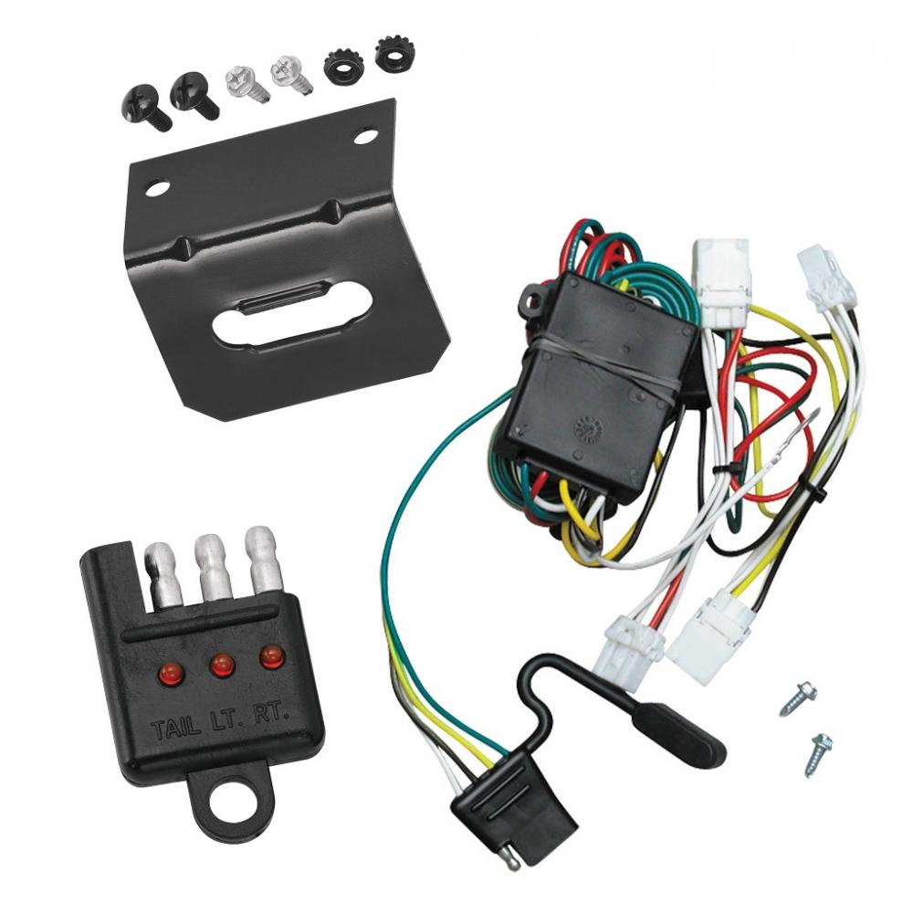 Trailer Wiring and cket and Light Tester For 97-03 Infiniti QX4 98-01 on