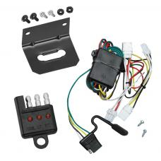 Trailer Wiring and Bracket and Light Tester For 97-03 Infiniti QX4 98-01 Nissan Altima 96-04 Pathfinder 4-Flat Harness Plug Play