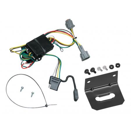 Trailer Wiring and Bracket For 98-04 Nissan Frontier 1998 Quest Mercury Villager 4-Flat Harness Plug Play