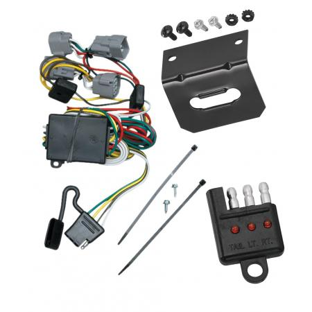 Trailer Wiring and Bracket and Light Tester For 98-04 Chrysler 300M Concorde LHS Dodge Intrepid 4-Flat Harness Plug Play