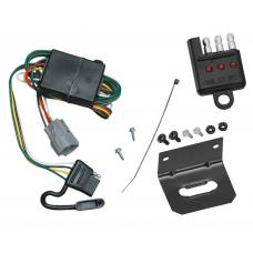 Trailer Wiring and Bracket and Light Tester For 98-99 Toyota Land Cruiser Lexus LX470 All Styles 4-Flat Harness Plug Play