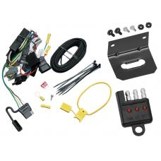 Trailer Wiring and Bracket and Light Tester For 99-03 Ford Windstar (Built Before 11/2002) 4-Flat Harness Plug Play