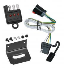 Trailer Wiring and Bracket and Light Tester For 99-00 Dodge Van Ram 1500 2500 3500 All Styles 4-Flat Harness Plug Play