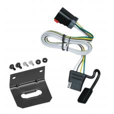 Trailer Wiring and Bracket For 99-00 Dodge Van Ram 1500 2500 3500 All Styles 4-Flat Harness Plug Play