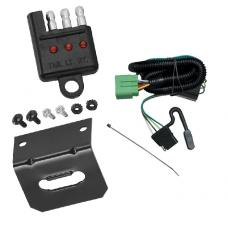 Trailer Wiring and Bracket and Light Tester For 99-04 Jeep Grand Cherokee All Styles 4-Flat Harness Plug Play
