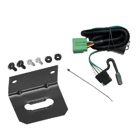 Trailer Wiring and Bracket For 99-04 Jeep Grand Cherokee All Styles 4-Flat Harness Plug Play