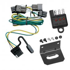 Trailer Wiring and Bracket and Light Tester For 00-03 Ford Taurus Mercury Sable Sedan 4-Flat Harness Plug Play