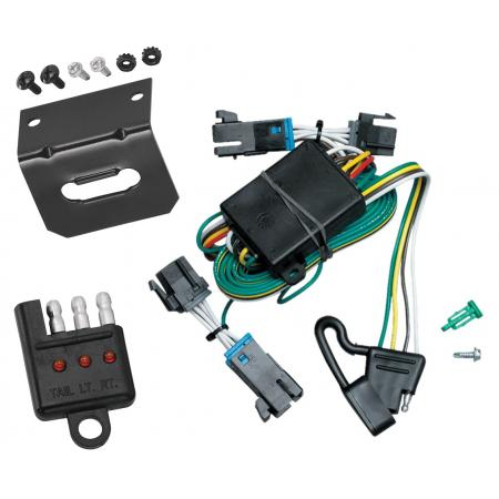 Trailer Wiring and Bracket and Light Tester For 00-02 Chevy Express GMC Savana 1500 2500 3500 4-Flat Harness Plug Play