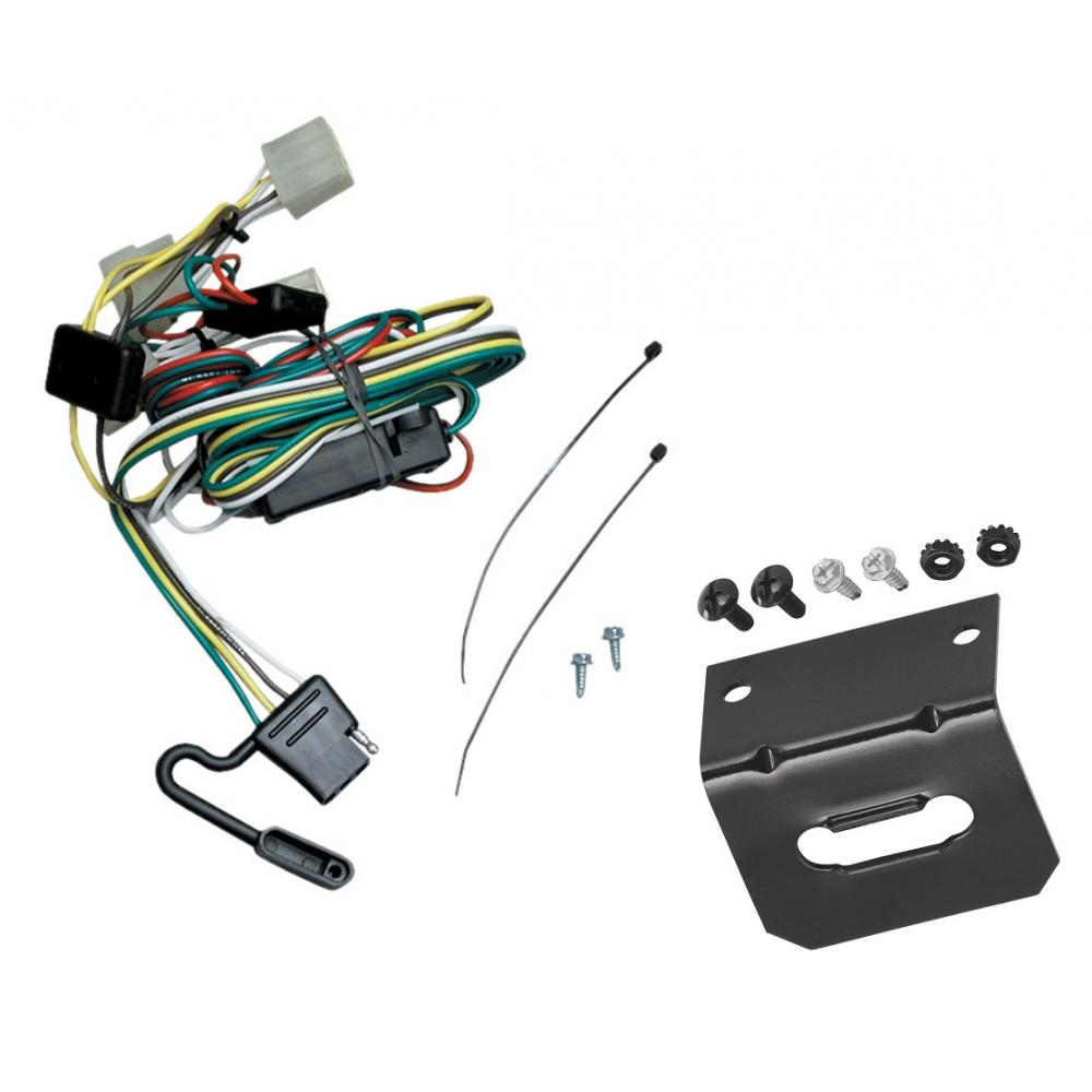 Trailer Wiring and Bracket For 95-04 Toyota Tacoma 89-95 Toyota Pickup  Except T-100 4-Flat Harness Plug PlayTrailerJacks.com