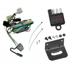 Trailer Wiring and Bracket and Light Tester For 95-04 Toyota Tacoma 89-95 Toyota Pickup Except T-100 4-Flat Harness Plug Play