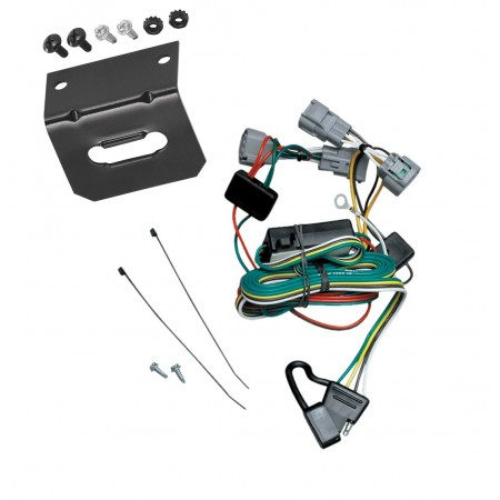 Trailer Wiring and Bracket For 01-06 Mitsubishi Montero Except Montero Sport 4-Flat Harness Plug Play
