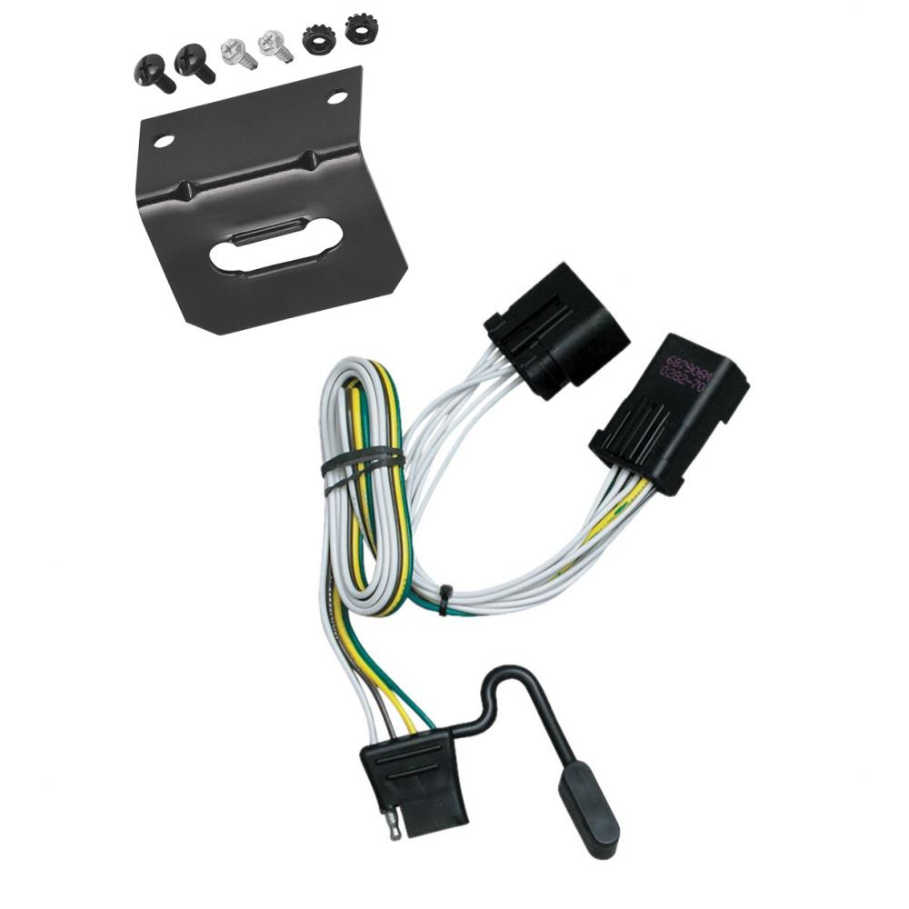 Trailer Wiring and Bracket For 00-10 Jeep Chrysler Dodge Dakota Aspen  Liberty Sprinter RAM Durango w/Factory 7-Way 4-Flat Harness Plug PlayTrailerJacks.com