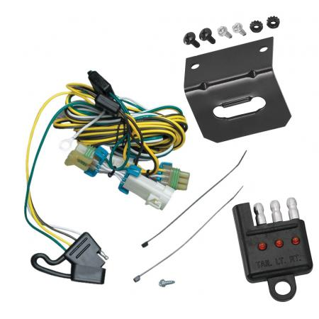 Trailer Wiring and Bracket and Light Tester For 02-07 Buick Rendezvous 01-05 Pontiac Aztek 4-Flat Harness Plug Play