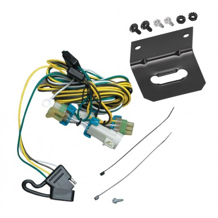 Trailer Wiring and Bracket For 02-07 Buick Rendezvous 01-05 Pontiac Aztek 4-Flat Harness Plug Play