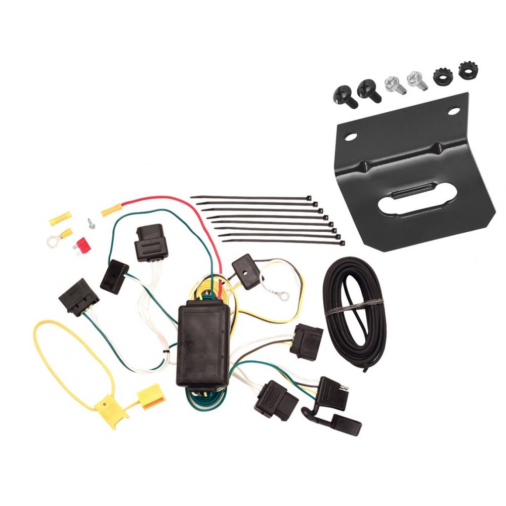 Trailer Wiring and Bracket For 04-07 Ford Freestar Mercury Monterey All  Styles 4-Flat Harness Plug PlayTrailerJacks.com
