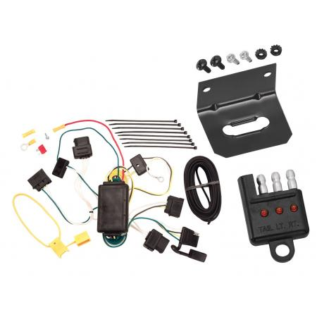 Trailer Wiring and Bracket and Light Tester For 04-07 Ford Freestar Mercury Monterey All Styles 4-Flat Harness Plug Play