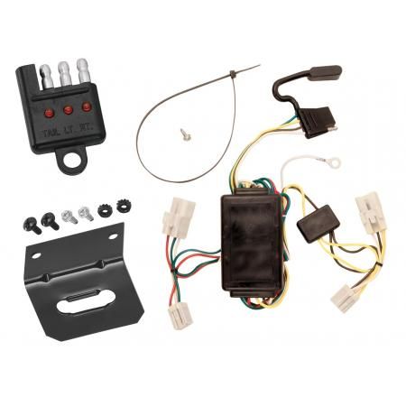 Trailer Wiring and Bracket and Light Tester For 00-02 Toyota Echo 03-08 Matrix All Styles 4-Flat Harness Plug Play