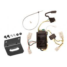 Trailer Wiring and Bracket For 00-02 Toyota Echo 03-08 Matrix All Styles 4-Flat Harness Plug Play
