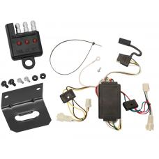 Trailer Wiring and Bracket and Light Tester For 2003 Toyota Corolla All Styles 4-Flat Harness Plug Play
