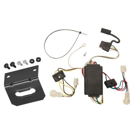 Trailer Wiring and Bracket For 2003 Toyota Corolla All Styles 4-Flat Harness Plug Play