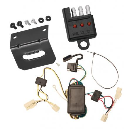 Trailer Wiring and Bracket and Light Tester For 01-05 Toyota RAV4 All Styles 4-Flat Harness Plug Play