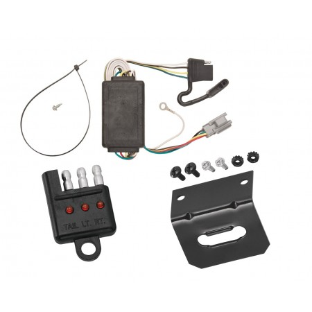 Trailer Wiring and Bracket and Light Tester For 05-06 Chevrolet Equinox 2006 Pontiac Torrent 4-Flat Harness Plug Play