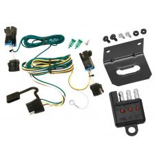 Trailer Wiring and Bracket and Light Tester For 03-21 Chevy Express GMC Savana 1500 2500 3500 4-Flat Harness Plug Play