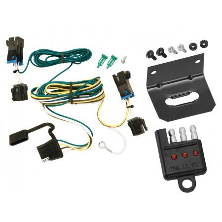 Trailer Wiring and Bracket and Light Tester For 03-20 Chevy Express GMC Savana 1500 2500 3500 4-Flat Harness Plug Play